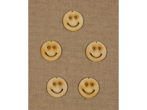 Figurine din lemn - smiley mini (4 cm, 5 buc/set)
